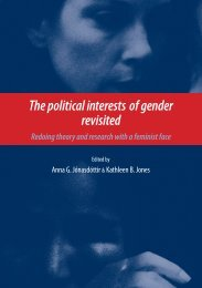The Political Interests of Gender Revisited - United Nations University