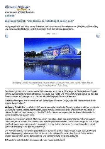IHK-Präsident zum Festspielhaus - Stephan Eisel