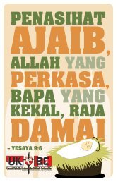 – YESAYA 9:6 - ukibc