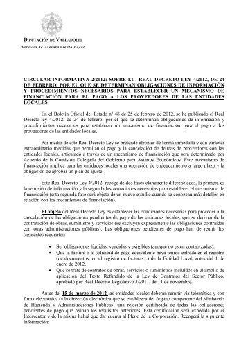 circular - Diputación de Valladolid