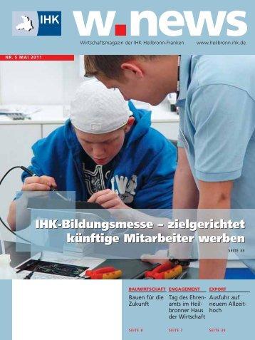IHK-Bildungsmesse – zielgerichtet künftige Mitarbeiter ... - w.news
