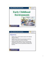 Early Childhood Environment