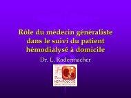 rle du mdecin gnraliste dans le suivi de l - Service de néphrologie ...