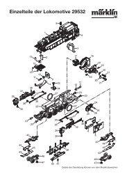 Einzelteile der Lokomotive 29532