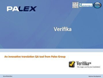 An innova*ve transla*on QA tool from Palex Group - LT-Innovate