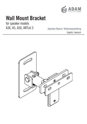 PWS212/BK Adapter Bracket