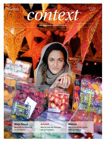 Nr. 12 / Dezember 2011 - Adventjobs (PDF, 5792 kb) - KV Schweiz