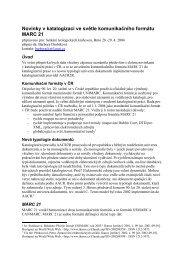 Novinky v katalogizaci ve světle komunikačního formátu MARC21