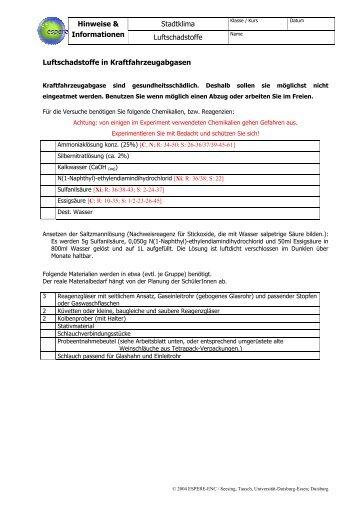 S2C25L - Chemie und ihre Didaktik, Universität Wuppertal