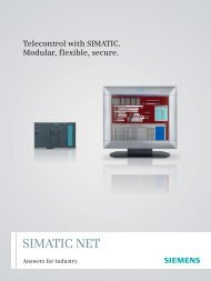 Telecontrol with SIMATIC - Automation Technology - Siemens