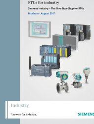 RTUs for industry - Automation Technology - Siemens