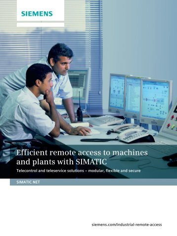 Efficient remote access to machines and plants with SIMATIC
