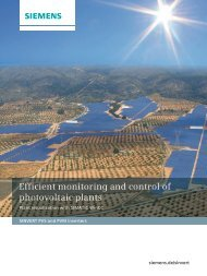 Efficient monitoring and control of photovoltaic plants - Siemens