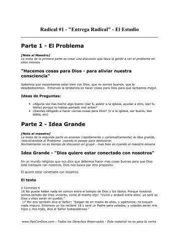 Radical 1 - El Estudio - PazConDios