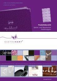 Neuheiten 2011 als pdf-Datei - Gastrokart