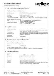 Sicherheitsdatenblatt - Max F. Keller GmbH