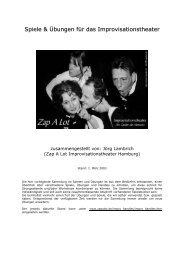 Spiele & Übungen für das Improvisationstheater - Impro-Theater.de