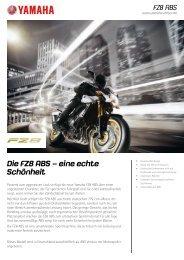 Die FZ8 ABS – eine echte Schönheit