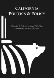 """california politics & policy - """"Pat"""" Brown Institute of Public Affairs"""