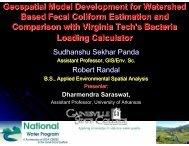 Geospatial Model Development for Watershed Based Fecal Coliform ...