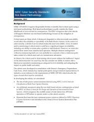 NERC Cyber Security Standards Risk Based Methodology - IESO