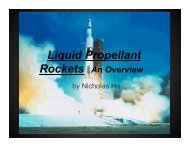 Liquid Propellant Rockets An Overview - COSMOS