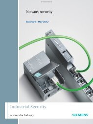 Network security - Automation Technology - Siemens