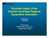Economic Impact of the Southern Southeast Regional Aquaculture ...