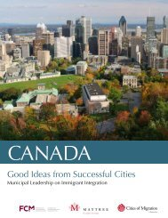 Good Ideas from Successful Cities - Cities of Migration