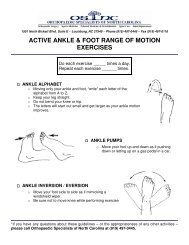 ACTIVE ANKLE & FOOT RANGE OF MOTION EXERCISES
