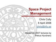 Space Project Management - Space.irfu.se