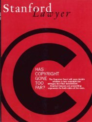 Fall 2002 – Issue 64 - Stanford Lawyer - Stanford University