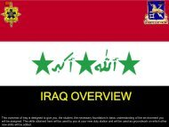 IRAQ OVERVIEW - U. S. Army Training Support Center