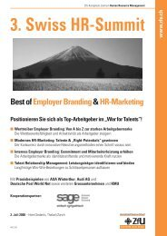 3. Swiss HR-Summit - Deutsche Employer Branding Akademie