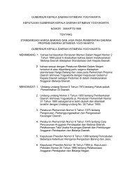 gubernur kepala daerah istimewa yogyakarta keputusan gubernur ...