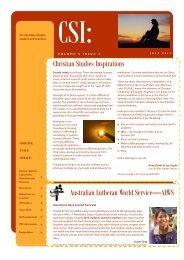 2012 July Volume 5 Issue 3 - Lutheran Schools Association