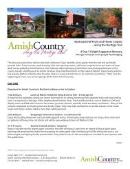 Fall Frolic…along the Heritage Trail Suggested ... - Amish Country