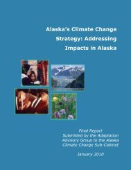 Alaska's Climate Change Strategy: Addressing Impacts in Alaska