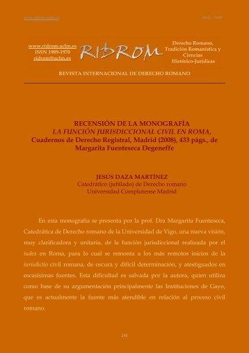 Fuenteseca, Margarita - revista internacional de derecho romano ...
