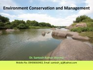 Environment Conservation and Management - EPCO
