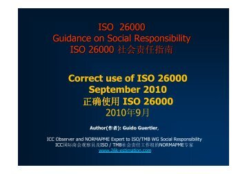 ISO 26000, an estimation