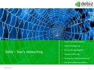 debiz – that's networking - VALEGRA - Werte für den Mittelstand