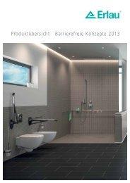 Produktübersicht Barrierefreie Konzepte 2013 - Erlau AG