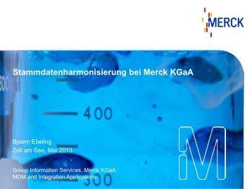 Stammdatenharmonisierung bei Merck KGaA - SAP.com