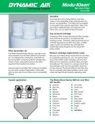 Modu-Kleen® Bin Vent Filter Series 669 - Dynamic Air Inc.