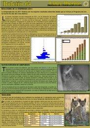 Boletín 64 - Programa conservación lince ibérico