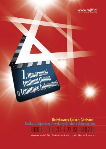 Katalog 2009 (A4, pdf 9M) - Warsaw Jewish Film Festival