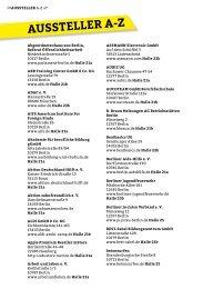 Ausstellerliste 2013 (PDF, 413,9 kB) - You