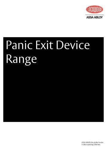 Panic Exit Device Range - ASSA ABLOY