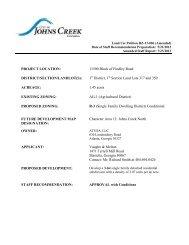 11500 Block of Findley Road - City of Johns Creek